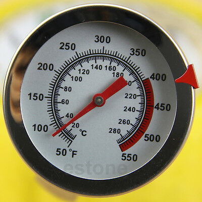 Classic Food Thermometer Temperature Stand Up Meat Dial Oven Gauge Gage Steel