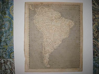Antique 1805 South America Arrowsmith & Lewis Copperplate Map Amazonia Brazil Nr