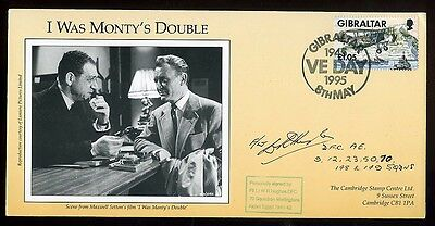 1995 'I was Monty's Double' Fiim Cover signed Fl Lt Hughes DFC