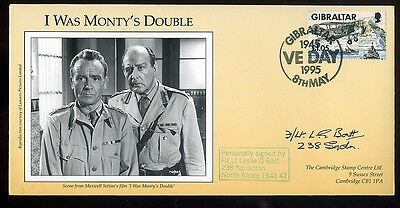 1995 'I was Monty's Double' Fiim Cover signed L Batt 238 Squadron N Africa