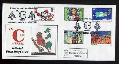 1981 Christmas  Big C Appeal Official Cover   Norwich H/S