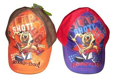 Boys Baseball Hat Cap Scooby Doo  2-8 Years Red Or Orange