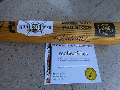 Dodgers Expo's Tim Wallach Gold Glove Silver Slugger Signed Game Used Bat COA