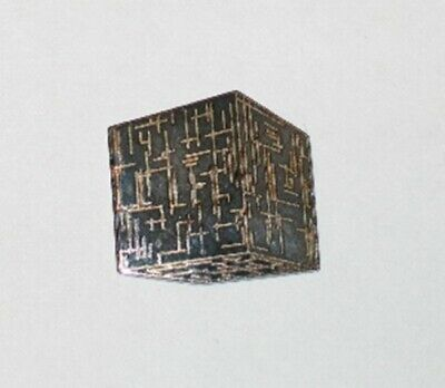 Star Trek: The Next Generation Borg Cube Ship Die-Cut Cloissone Metal Pin UNUSED