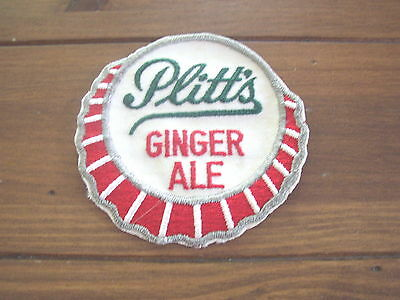 Plitts Ginger Ale vintage unused cloth Patch