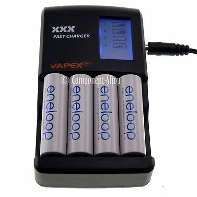 VAPEX FAST LCD Charger for AA / AAA rechargeable batteries