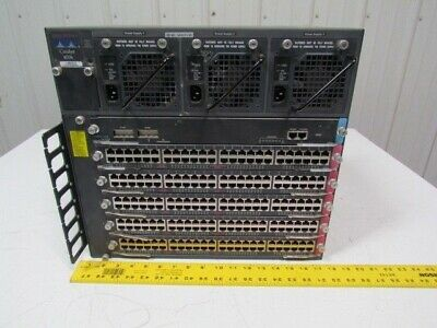 Cisco Systems WS-C2926 Chassis w/(1) WS-X4148-RJ & (5) WS-4148-RJ Modules