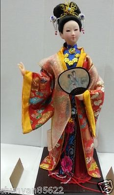 Oriental Broider Doll,Old figurine china Dynasty beautiful girl statue