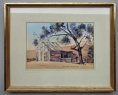 John Munckton The Cow Shead Framed Watercolour Painting