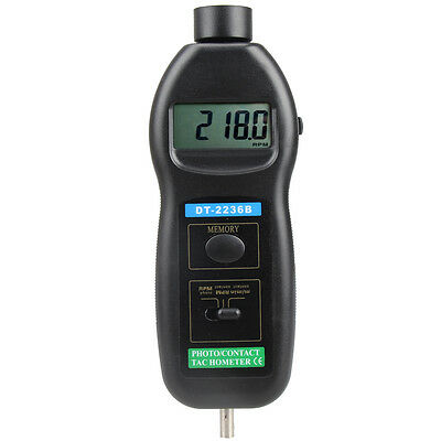 DT2236B 2 in 1 Digital Laser Photo Contact Tachometer 99,999 RPM #T1K