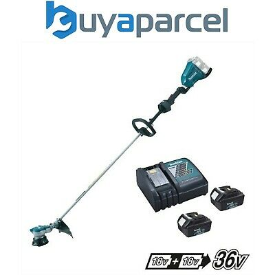 Makita DUR364L Twin LXT 18v 36v Li-Ion Brushless Line Trimmer 2 x 3.0ah Charger