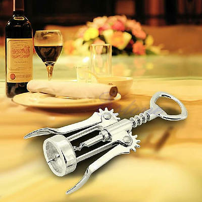 Metal Wine Corkscrew Stainless Steel Waiter Bottle Beer Cap Opener New