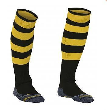 Stanno Hooped Adult Black/Yellow Socks