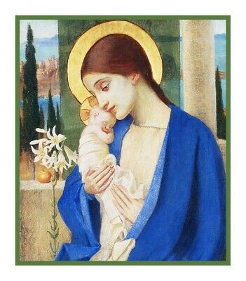 Marianne Stokes Madonna and Baby Jesus Counted Cross Stitch Chart Pattern