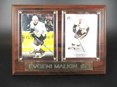 Evgeni Malkin Pittsburgh Penguins Holz Wandbild 20 cm,Plaque NHL Eishockey
