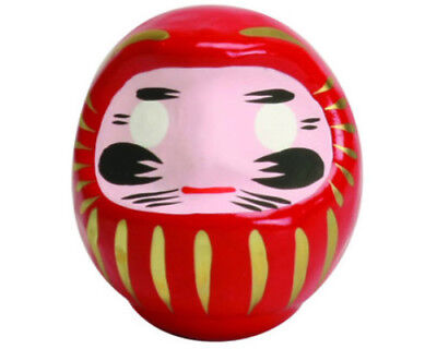 """Japanese 3.5"""" Red Daruma Doll  Wish-Making for Luck & Good Fortune Made in Japan"""