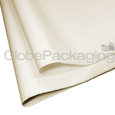100 SHEETS OF CREAM COLOURED ACID FREE TISSUE PAPER 375mm x 500mm *TOP QUALITY*