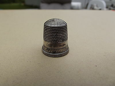 Vintage # 9 Anchor Hallmark Sterling Silver Thimble 2.6 Grams