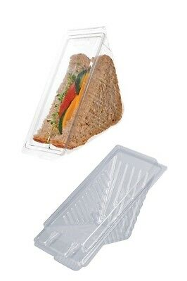 100 Large dispossable Sandwich Wedges / containers