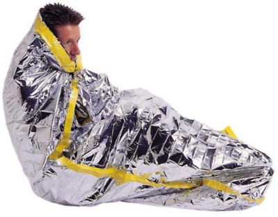 "12 Pack Emergency Mylar Solar Sleeping Bag 84"" x 36"""