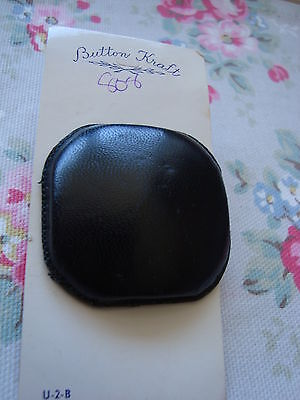 Card - Large Square Leather Button