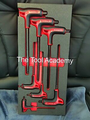 Facom Soft Foam Module + 7 Piece Metric Hex Allen Key Set Power Handle T Handle