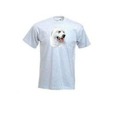 Great Pyrenees Mountain Dog Face Design Printed T-Shirt