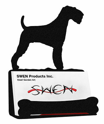 SWEN Products AIREDALE DOG Black Metal Business Card Holder