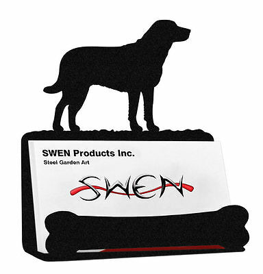 SWEN Products CHESAPEAKE BAY Dog Black Metal Business Card Holder