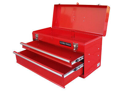 Us Pro Portable Tool Chest Tool Box 2 Drawer Ball Bearing Slides