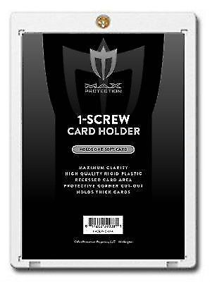 25 Max Pro Thick 50pt Pro 1 Screw Plastic Card Holders for Baseball Football