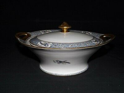Theodore Haviland Limoges France Rani Round Covered Vegetable Bowl - Pheasant/Bi