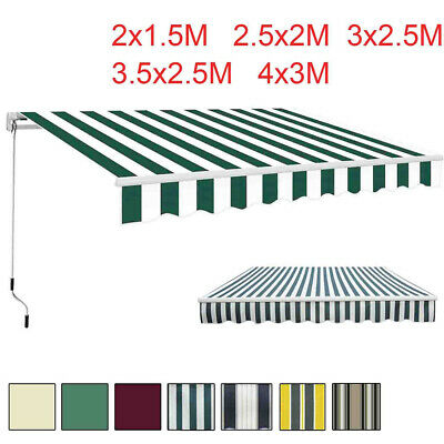 Garden Awning Patio Sun Shade Canopy Shelter With Fabric Top Cover + Frill New
