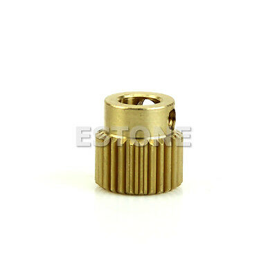 26T MK8 Printer Copper 26tooth Gear 11mm x 11mm For DIY 3D Printer Extruder Hot