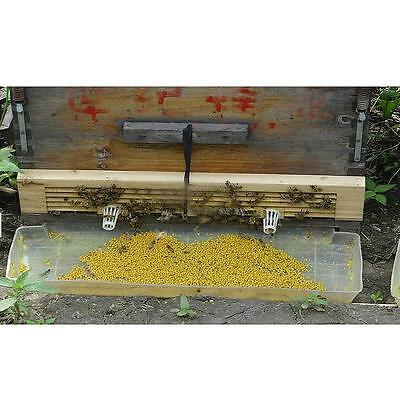 1Pcs Practical 4 Rows Wood Beehive Wire Pollen Traps Free Shipping G