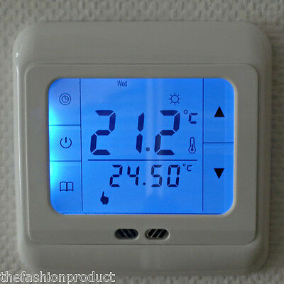 BYC07.H3 LCD TACTILE ECRAN DIGITAL Contrôleur Programmable Thermostat Chauffage