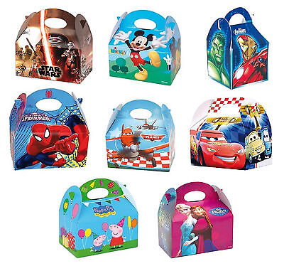 Character Party FOOD BOXES - Childrens Kids Birthday Loot Favour (Disney/Marvel)