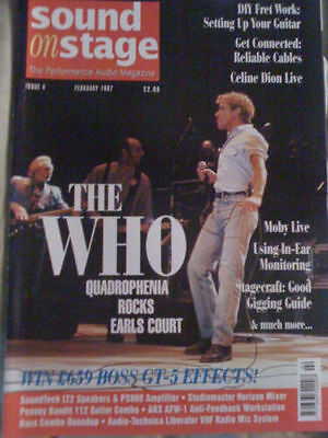 The Who Sound and stage UK Magazine cover issue