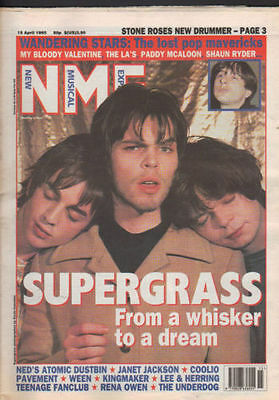 New Musical Express NME Supergrass,Stone roses,Happy Mondays 18 April 1995