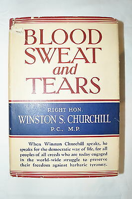 WW2 British Blood Sweat and Tears Winston Churchill Reference Book