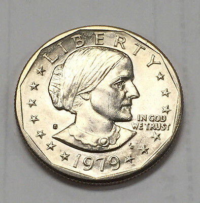 {BJSTAMPS}  1979-S $1 Susan B Anthony Dollar