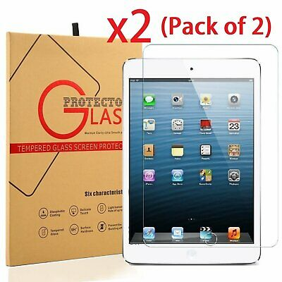(Lot 2) 2x  Premium Real Tempered Glass Screen Protector for Apple iPad 2 3 4