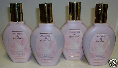 4 pieces NEW VINTAGE OLD STOCK GLORIA VANDERBILT PERFUME SPLASH ON POWDER 20 ozs