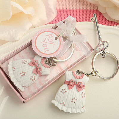 50 - Cute-as-can-be Key Chain Baby Girl Shower Favor - Free US Shipping