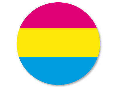 Pin Button Badge Ø38mm LGBT Flag Pansexualité Pansexual