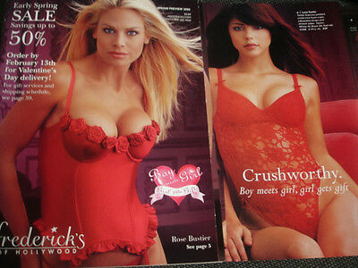 Fredericks of Hollywood 2002 Spring Preview Rosebustier issue Carol Grow cover