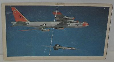 """Boeing B-52 Stratofortress & North American X-15"" Aircraft Postcard - Creased"