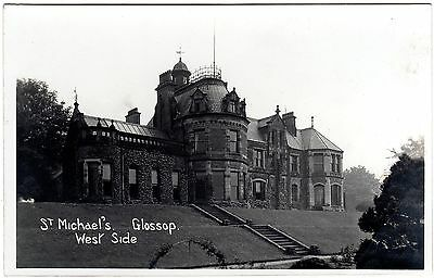 Early Real Photo Postcard St. Michael`s-West Side-Glossop-Derbyshire