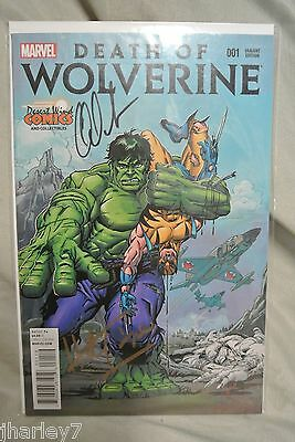 2014 Nycc Desert Wind Death Of Wolverine #001 Herb Trimpe Charles Soule Signed