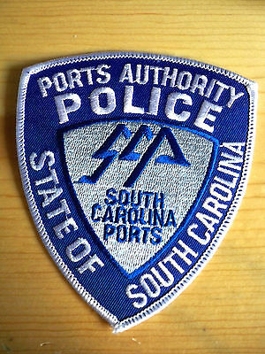Unused South Carolina Police Patches  Ports Authority State Of S.c.